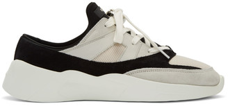 Essentials Black and Off-White Backless Sneakers