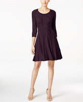 Calvin Klein Intarsia Fit & Flare Sweater Dress