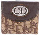 Christian Dior Leather-Trimmed Diorissimo Wallet