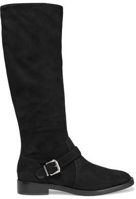 Schutz Luidi Buckled Suede Knee Boots