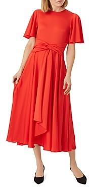 Hobbs London Leia Knotted-Waist Dress