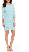 Jessica Howard 3/4-Sleeve Lace Sheath Dress