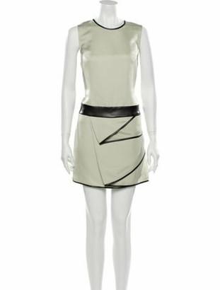 3.1 Phillip Lim Crew Neck Mini Dress w/ Tags Green