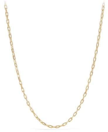 "David Yurman 18k Madison Thin Chain Link Necklace, 36""L"