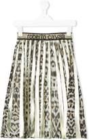 Roberto Cavalli leopard print pleated skirt