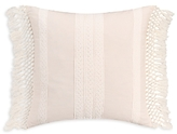Cupcakes And Cashmere Overscale Tapestry Lace and Macrame Trimmed Decorative Pillow, 18 x 18