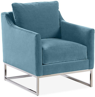 One Kings Lane Saylor Accent Chair - Colonial Blue Crypton