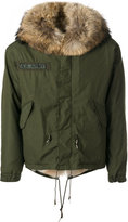 As65 - A.S. army jacket - men - Cotton/Leather/Nylon/Coyote Fur - XS