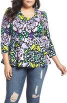 Melissa McCarthy Plus Size Women's Print Peplum Top
