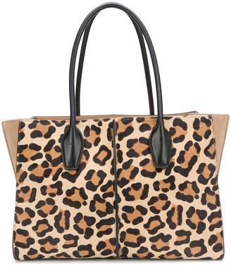 Tod's Leopard Print Tote Bag