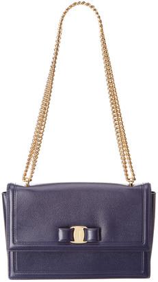 Salvatore Ferragamo Vara Bow Medium Leather Shoulder Bag