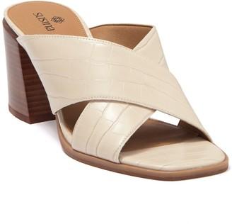 Susina Keli Embossed Faux Leather Sandal