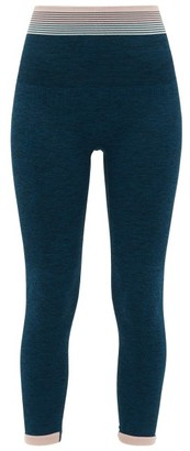 LNDR Lunar Contrast-stripe Leggings - Womens - Blue