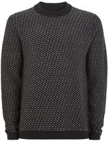 Selected Homme Navy High Neck Jumper