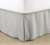 Pottery Barn Belgian Flax Linen Bed Skirt