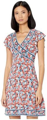 MICHAEL Michael Kors Hothouse Mini Dress (Coral Peach) Women's Dress