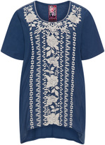 Johnny Was Plus Size Embroidered cotton tunic