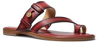 MICHAEL Michael Kors Brayden Flat Sandal (Luggage) Women's Shoes