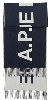 A.P.C. Wool Angele Logo Scarf