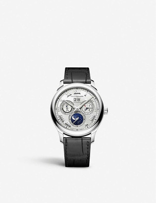 Chopard 161927-1001 L.U.C Lunar One 18ct white-gold and alligator-embossed leather watch
