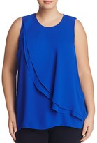 VINCE CAMUTO Plus Double Ruffle Overlay Top