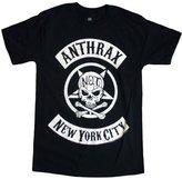 Global Anthrax T-shirt Biker Skull Logo Tee