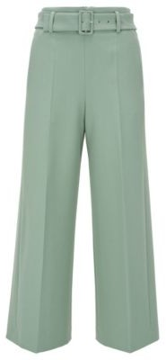 BOSS Culotte-style regular-fit trousers in stretch twill