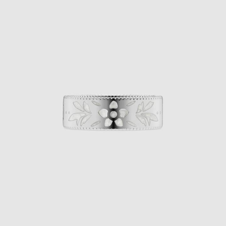 Gucci Icon ring in white gold
