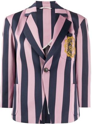 Vivienne Westwood Striped Crest-Detail Blazer