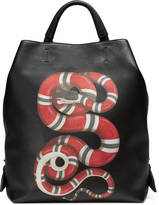 Gucci Snake print leather backpack
