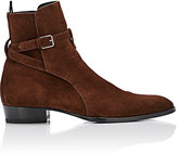Saint Laurent Men's Hedi Jodhpur Boots-DARK BROWN