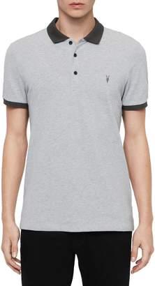 AllSaints Orlando Regular Fit Cotton Polo Shirt