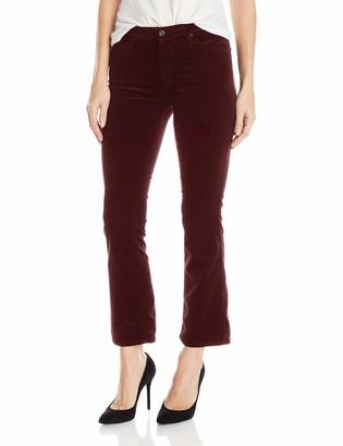 AG Jeans Women's The Jodi Crop Flare Opulent Stretch Velveteen