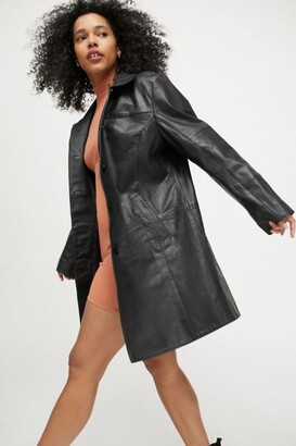 Deadwood Kara Recycled Leather Coat