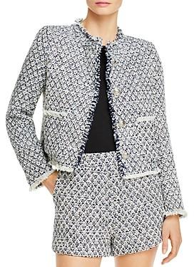 Aqua Tweed Cropped Jacket - 100% Exclusive