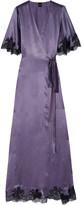 Carine Gilson Déshabillé lace-trimmed silk-satin robe