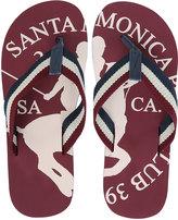 Yours Clothing Santa Monica Burgundy Flip Flops