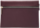Victoria Beckham Grained Leather Small Zip Pouch