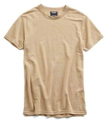 Todd Snyder Cotton Pique T-shirt in Camel