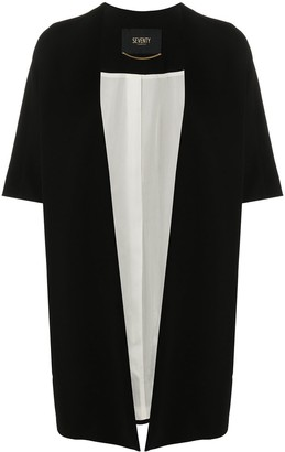 Seventy Short-Sleeve Draped Cardi Coat