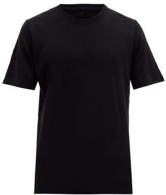 120% Lino Crew-neck Linen T-shirt - Mens - Black