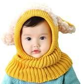 LIWEIKE Baby Girls Boys Winter Warm Scarf Shawl Hat Knit Cute Face Cover Balaclava