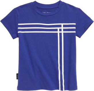 TINY TRIBE Blue Lines T-Shirt