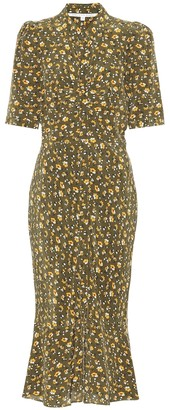 Veronica Beard Pike floral silk dress