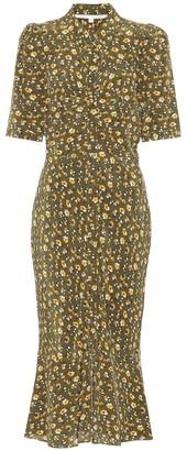 Veronica Beard Pike floral silk dress