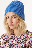 Topshop Blue Turnup Beanie Hat
