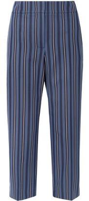 Burberry Cropped Striped Wool-blend Jacquard Straight-leg Pants