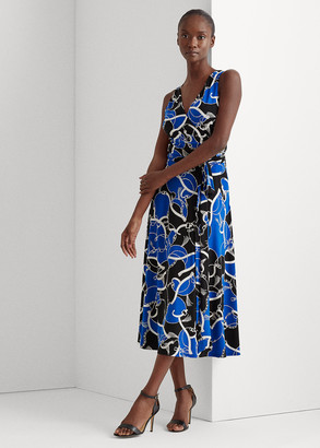 Ralph Lauren Print Tie-Waist Jersey Dress