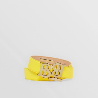 Burberry Double Monogram Motif Leather Belt