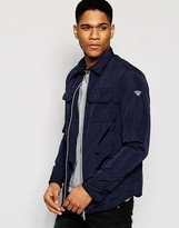 Armani Jeans Jacket With Logo Sleeve Slim Fit